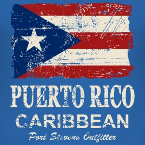 Puerto Rico Flag - Vintage Look T-Shirts - Männer Slim Fit T-Shirt