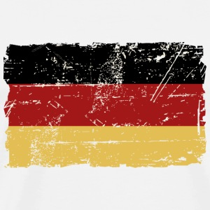 Germany Flag - Vintage Look T-shirts - Herre premium T-shirt