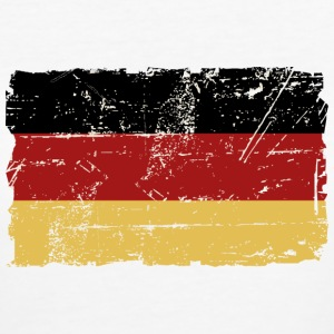 Germany Flag - Vintage Look Tee shirts - T-shirt Bio Femme