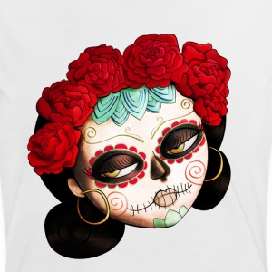 The Day of The Dead Beatiful Catrina T-Shirts - Women's Ringer T-Shirt
