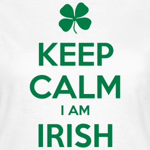 KEEP CALM I´M IRISH - T-skjorte for kvinner