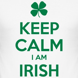 KEEP CALM I'M IRISH - Männer Slim Fit T-Shirt