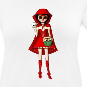 Dia de Los Muertos Red Riding Hood T-Shirts - Women's Breathable T-Shirt