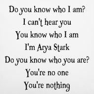 ~ I'm Arya Stark - federa cuscino Game of Thrones