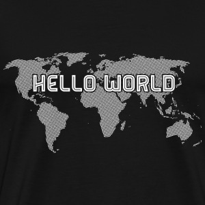 Hello World - White - Männer Premium T-Shirt