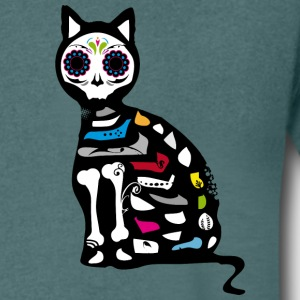 Sugar Skull Cat T-Shirts - Men's V-Neck T-Shirt