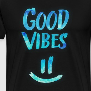 Good Vibes - Funny Smiley Statement / Happy Face T-Shirts - Men's Premium T-Shirt