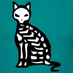 Skeleton and bones of a cat T-Shirts - Men's T-Shirt
