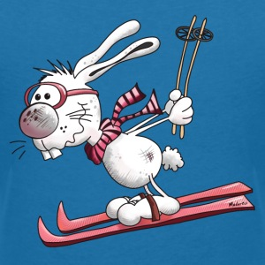 Ski Rabbit T-Shirts - Women's V-Neck T-Shirt