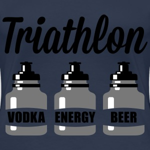 Triathlon Vodka Energy Beer T-shirts - Dame premium T-shirt
