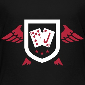 kort spille spiller Rommy poker bridge T-shirts - Teenager premium T-shirt