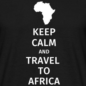 keep calm and travel to africa T-skjorter - T-skjorte for menn