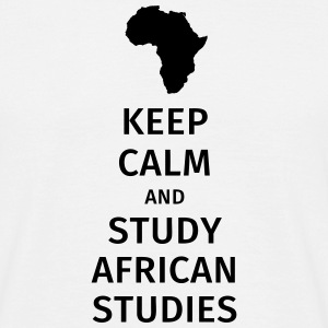 keep calm and study african studies T-shirts - Mannen T-shirt