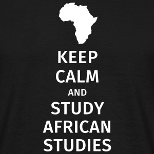 keep calm and study african studies T-skjorter - T-skjorte for menn