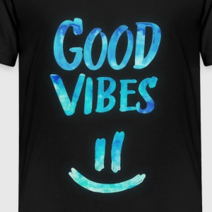 Good Vibes - Funny Smiley Statement / Happy Face Magliette - Maglietta Premium per ragazzi