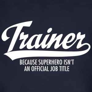 Trainer - Superhero T-shirts - Mannen Bio-T-shirt