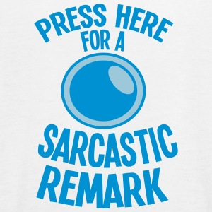 Press here for a SARCASTIC REMARK Tops - Women's Tank Top by Bella