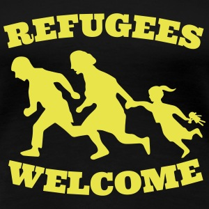 refugees welcome asyl T-Shirts - Frauen Premium T-Shirt