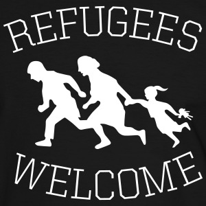 refugees welcome! T-Shirts - Männer Kontrast-T-Shirt
