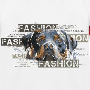 fashion-rottweiler-dog-an Camisetas - Camiseta béisbol niño