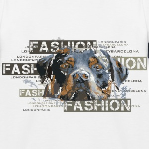 fashion-rottweiler-dog-an T-Shirts - Kinder Baseball T-Shirt