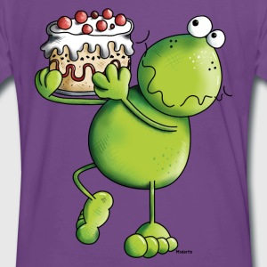 Frog with Cake T-Shirts - Men's Premium T-Shirt