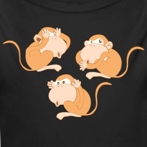 The three wise monkeys - Longlseeve Baby Bodysuit