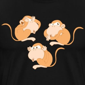 The three wise monkeys - Men's Premium T-Shirt