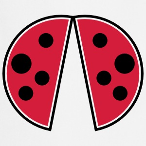 cute red black spots ladybug wings ladybug  Aprons - Cooking Apron