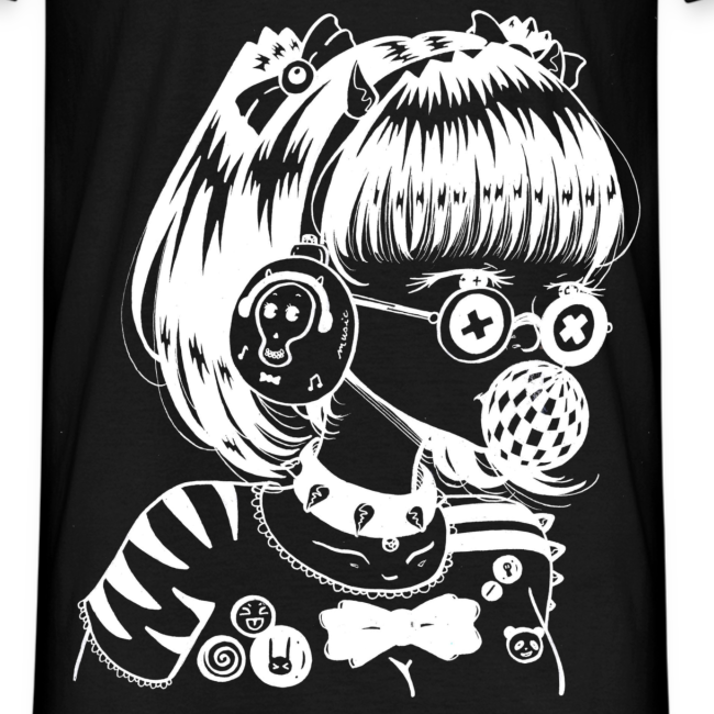 Manga fille image - Coloriage manga rock ...