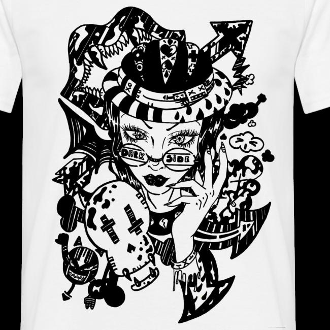 Dessin De Lunettes kagami † | dessin femme vampire hipster à lunettes dark side noir et