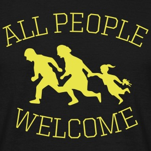 all people welcome! asyl T-Shirts - Männer T-Shirt