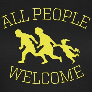 all people welcome! asyl T-Shirts - Frauen T-Shirt