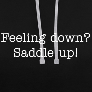 feeling down saddle up.png Sweaters - Contrast hoodie