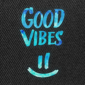 Good Vibes - Funny Smiley Statement / Happy Face Cappelli & Berretti - Snapback Cap