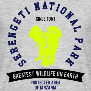 SERENGETI NATURAL PARK || ELEFANT T-Shirts - Men's T-Shirt
