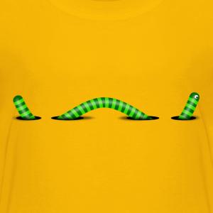 Wurm mit Löcher