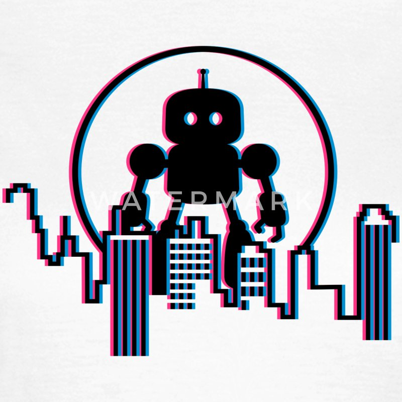Robot Skyline - 3D T-Shirts - Frauen T-Shirt