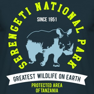 SERENGETI NATURAL PARK - RHINO T-Shirts - Men's T-Shirt