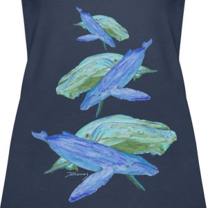 Humpback whales blue Tops - Women's Premium Tank Top