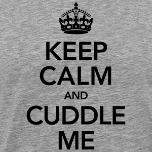 Keep Calm And Cuddle Me T-shirts - Herre premium T-shirt