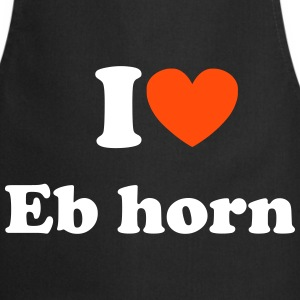 I love Eb horn Cooking Apron - Kokkeforkle