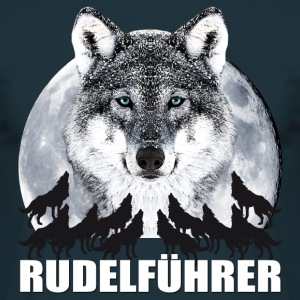 Rudelführer Wolf JGA Party Team Vollmond T-Shirt - Männer T-Shirt