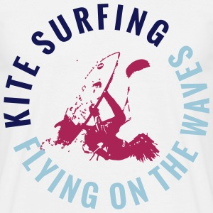 KITE SURFING - FLYING ON THE WAVES T-Shirts - Men's T-Shirt
