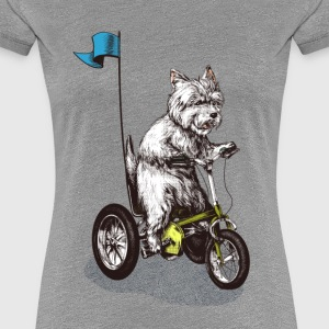 West Highland Terrier Tricycle T-Shirts - Frauen Premium T-Shirt