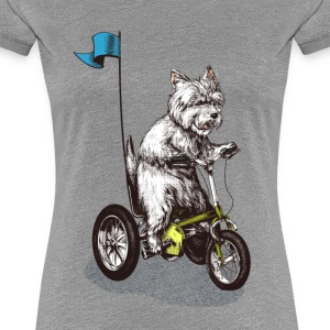 West Highland Terrier Tricycle Tee shirts - T-shirt Premium Femme