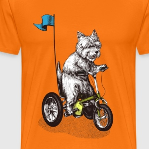 West Highland Terrier Tricycle Tee shirts - T-shirt Premium Homme