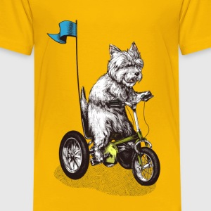 West Highland Terrier Tricycle Tee shirts - T-shirt Premium Enfant