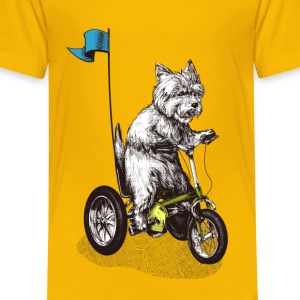West Highland Terrier Tricycle T-Shirts - Kinder Premium T-Shirt
