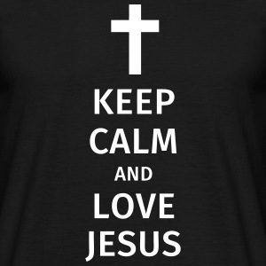 keep calm and love jesus Koszulki - Koszulka męska